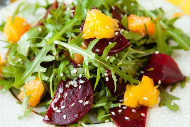 Ken Rose fresh salad with beets and oranges
