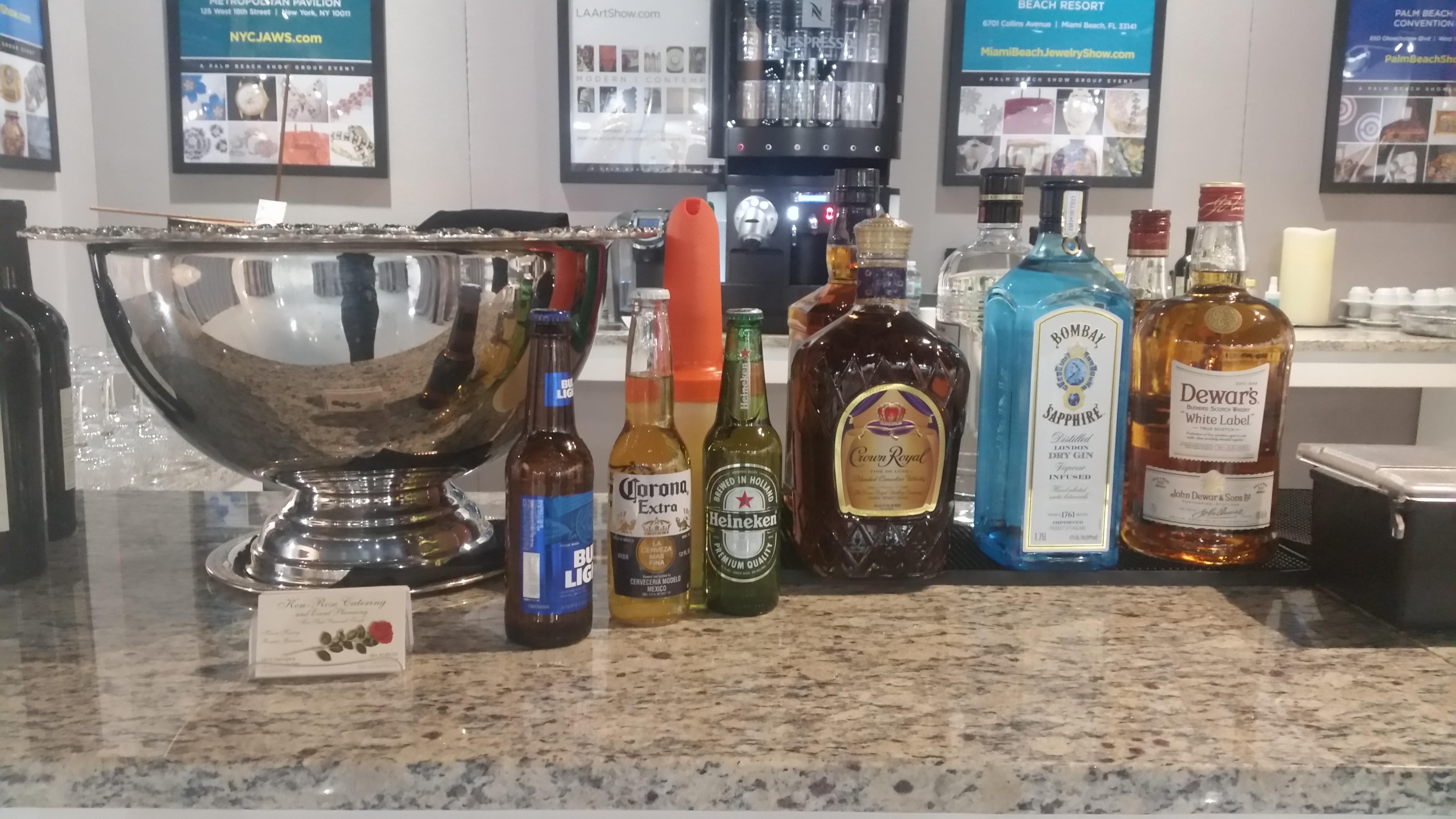 Palm Beach Art Antique & Design Showroom Bar setup