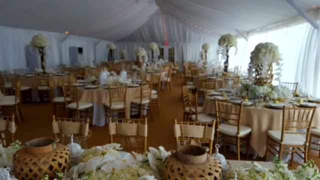 Event tent set up